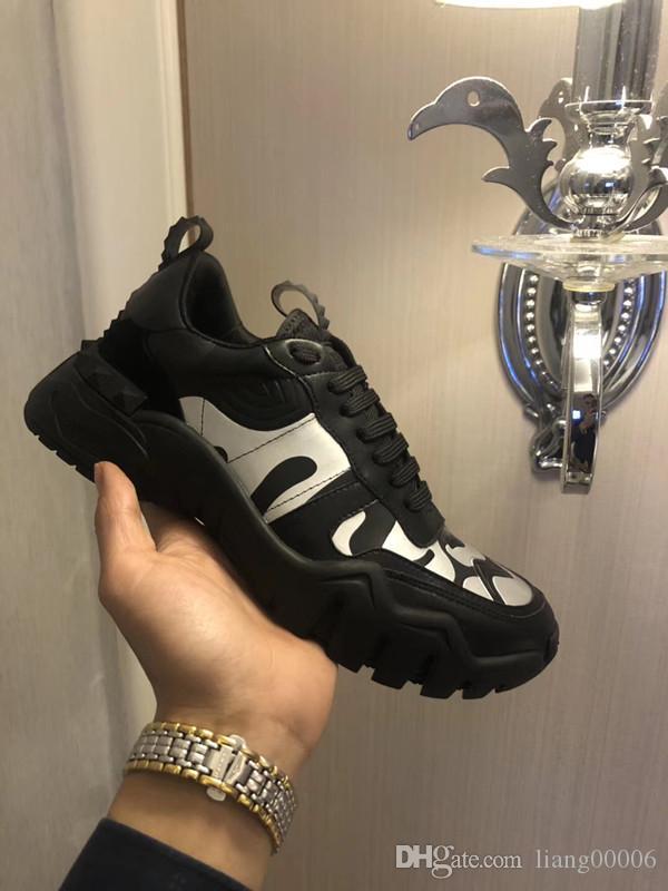 2020 Platform Designer Comfort das mulheres bonitas sapatilhas menina Couro Casual Shoes Homens sapatilhas das mulheres extremamente durável mh1125 Estabilidade