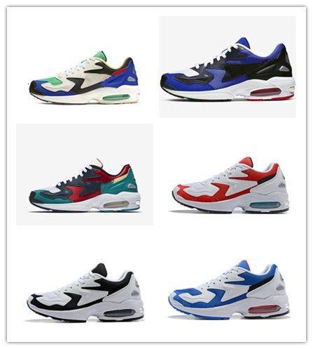 2019 nuovi arrivi Max2s Luce Olimpiadi pattini correnti degli uomini Airs blu navy bianco rosso del progettista del Mens Sneakers Trainers Scarpe scarpe sportive Size 40-46
