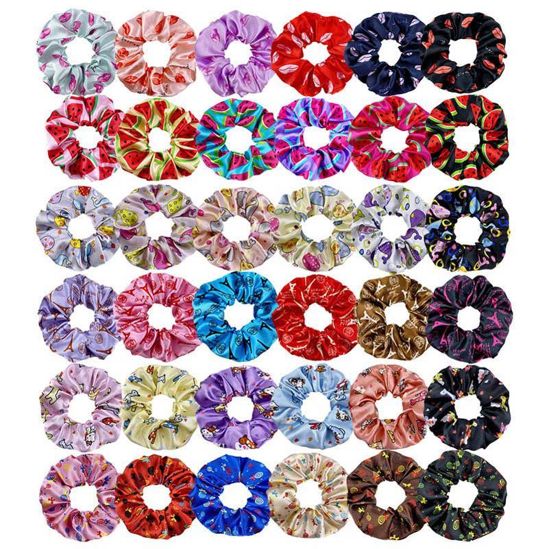 36Color Druck Frauen scrunchies Mode Frauen Haarband Mädchen Haarbänder Haarzusätze für Frauen Designer Kopfbänder B1251
