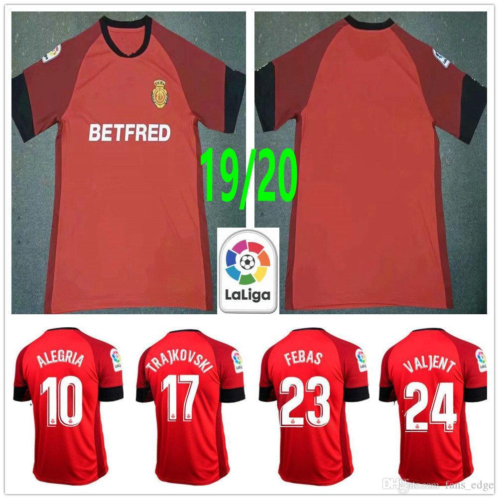 2019 2020 Real Club Deportivo Mallorca Febas Chavarria Junior Valjent Budimir Alegria Trajkovski مخصص الأحمر 19 20 قميص كرة القدم