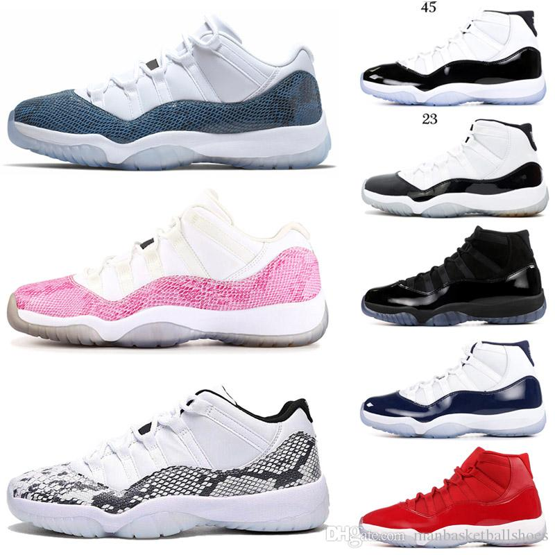 With box 11 11s Basketball Shoes for men wome concord 23 45 Cap and Gown Space Jam sneakers 11s Snakeskin mens trainer