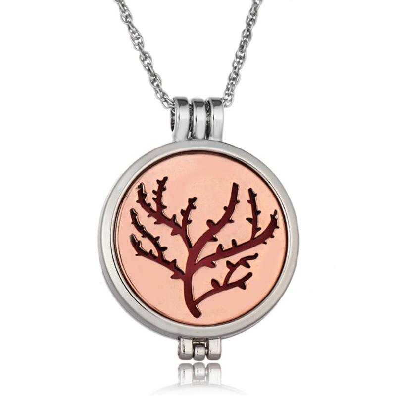 Эфирное масло диффузор ожерелье Дерево Жизни медальоны кулон ожерелье с люминесцентными подушечками духи ювелирные изделия
