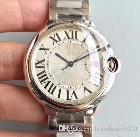 3A orologio di lusso quadrante filo bianco 42 mm serie W69012Z4 movimento meccanico automatico fibbia originale specchio zaffiro acciaio inossidabile 316L