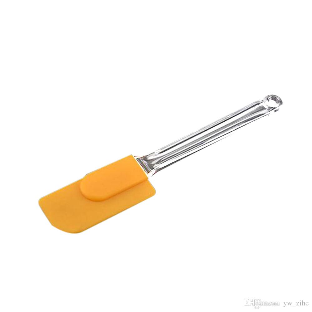 Silikon Kek Karıştırma Kazıyıcı Paslanmaz Çelik Saplı Krem Tereyağı Spatula Karıştırın Kek Gereçler Spatula Fırça Bıçak Pasta Araçları wh1145