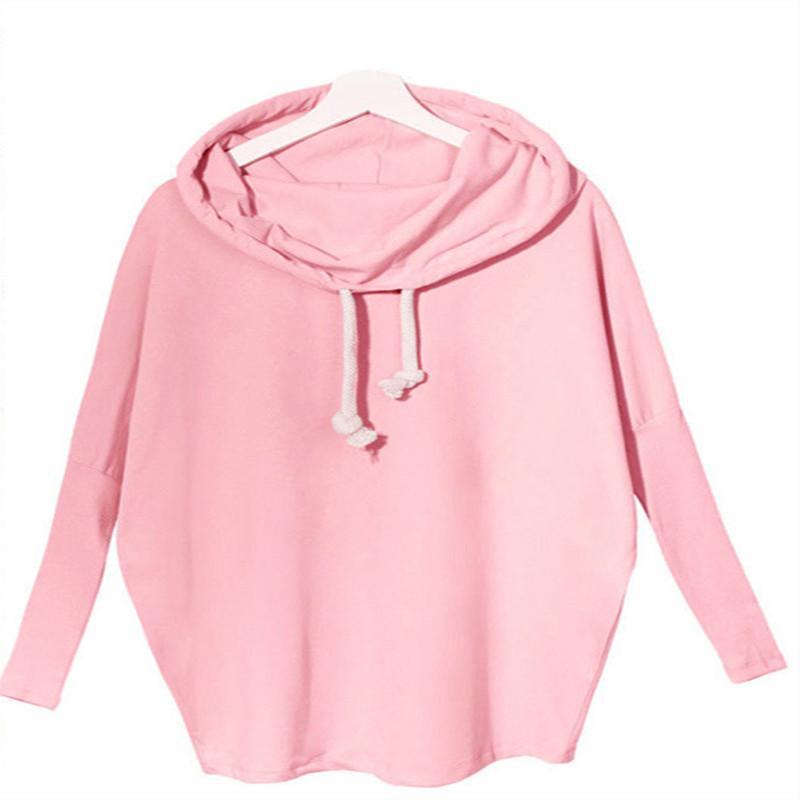 Neue Art und Weise Frauen Langarm-lose Drawstring Hoodie beiläufige Hoodies Asymmetrische Solid Color Tops Sportwear
