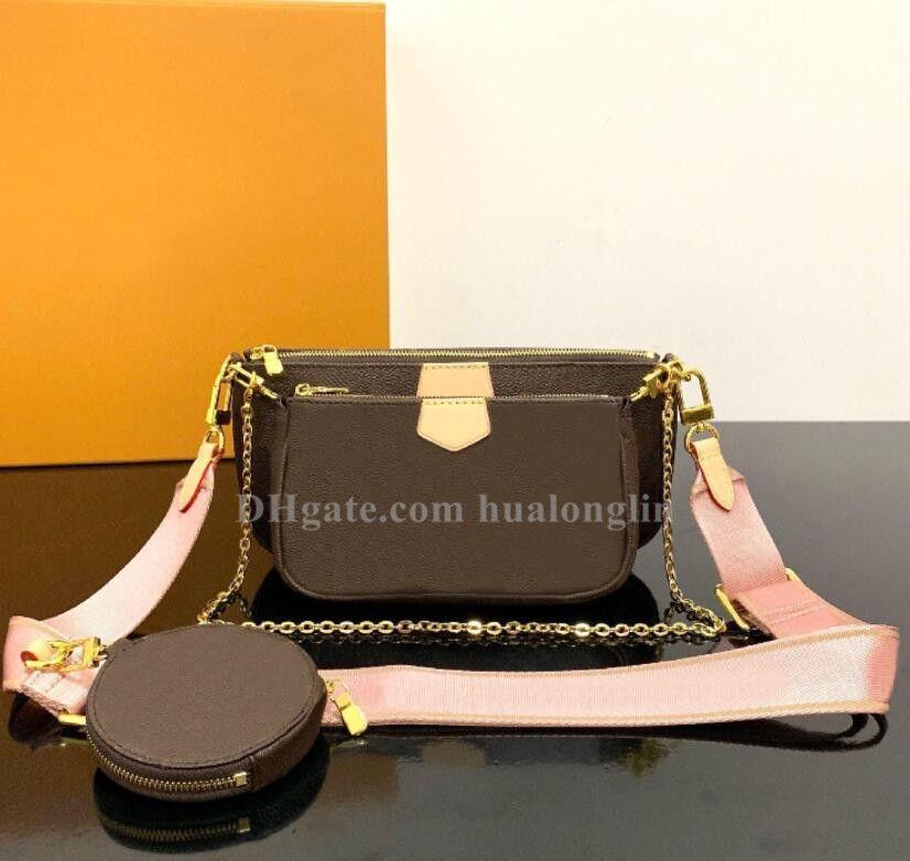 Frauen-Beutel-Hand Original Box Geldbeutel Schulter Umhängetasche Multi pocchette Handtasche Datumscode
