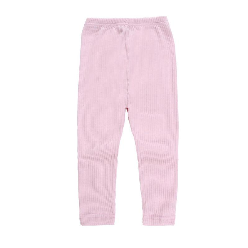 Kids Pants Girls Leggings Tights Candy Colors Mid Waist Long Trousers Skinny Pants Children 6 Colors Kids Clothing Q427