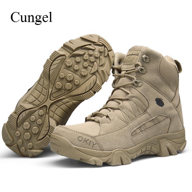 Cungel Открытый армейская обувь мужская кроссовки Desert Tactical Boot дышащая водонепроницаемая Восхождение Trekkingwelcome в нашем магазине!