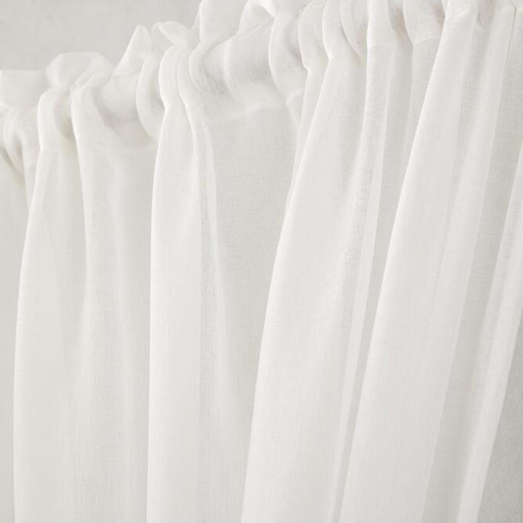 Thermal Insulated Blackout Curtain Panel for French Door White 64x183cm