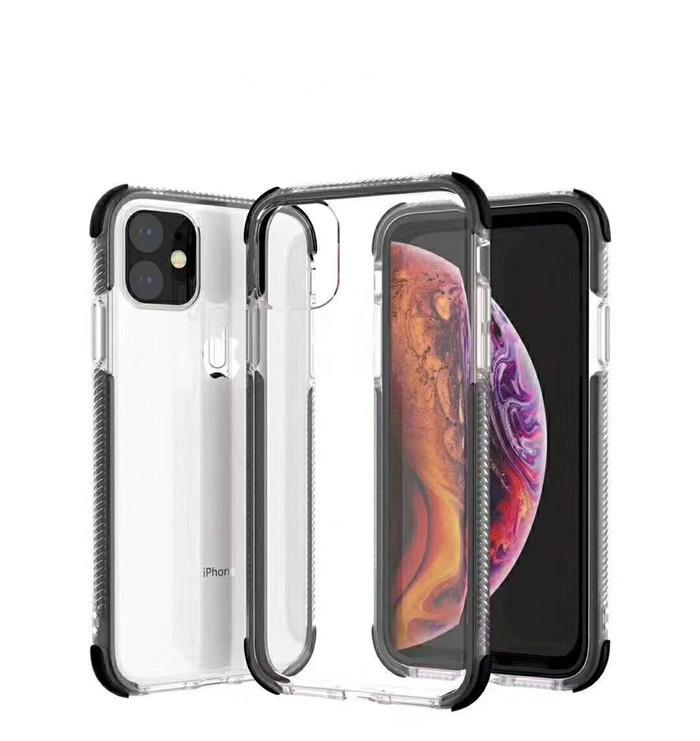 for iphone 11 2in1 Phone Case Soft TPU Clear Shockproof Case for iPhone 6 7 8 Plus iPhone Xs Xr Xs Max 11 Pro Max