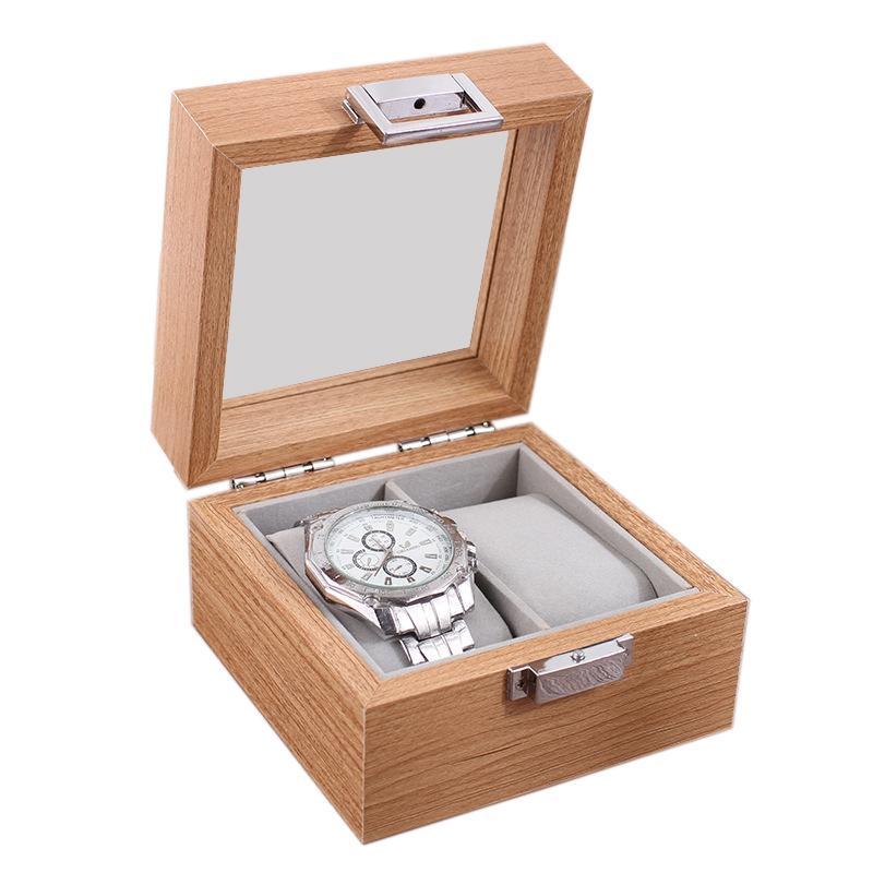 Coffret en bois Organisateur de rangement pour Horloge Montres Porte-vitrine de stockage Boîtes à bijoux meilleur cadeau