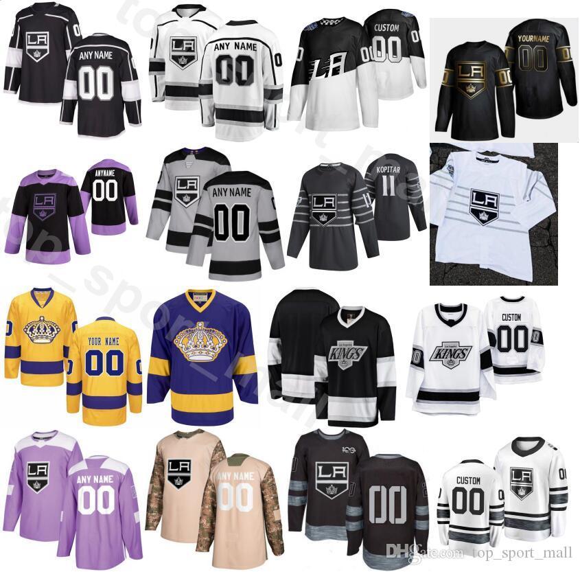 Costumbre 2020 LA Los Ángeles Rey de hockey sobre hielo 3 Matt Roy Jersey Hombres 74 Nikolai Prokhorkin 22 Trevor Lewis Ben 15 Hutton