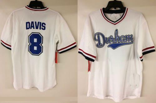 Crash Davis Durham Film Baseball Jersey Ligue Mineure Mens Cousu Maillots Chemises Taille S-XXXL Livraison Gratuite