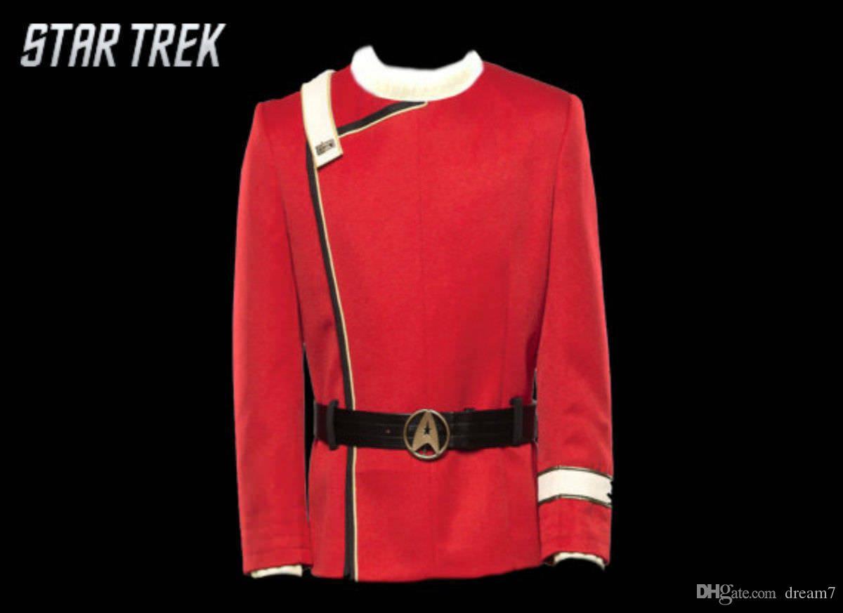 Star Trek II The Wrath Of Khan Cosplay Starfleet Costume Uniform Blue Collar New