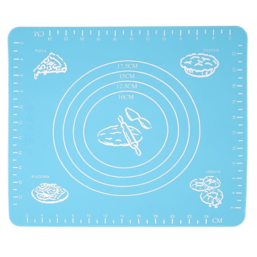 Мода Силиконовые торт Тесто Кондитерские Fondant Роллинг высечки Выпечка Pad Baker Tool