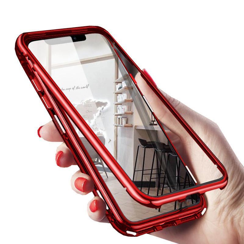 Магнитная Адсорбция 360 Металлический чехол для телефона Samsung Galaxy S20 PLUS S20 Ультра Полное покрытие кадра Закаленное стекло 50PC