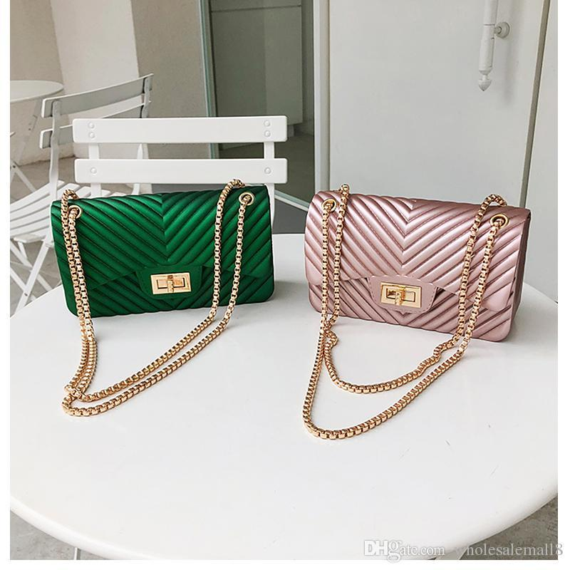 High-class Design Mini Small Women Messenger Bags Female Chain Jelly Bag PU Leather Shoulder Bags Handbags for Women 2019 New