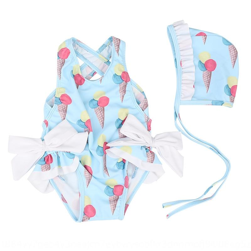 aFr4j Children's girls Flamingo cute bow one-piece 0-8 years old baby Children's girls Flamingo cute bow one-piece 0-8 Swimsuit years old ba