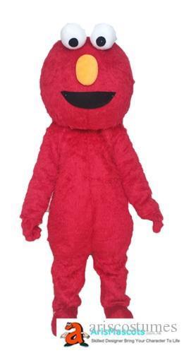 100% fotos reais elmo traje mascote trajes da mascote dos desenhos animados para Kids Birthday Party disfarce Mascotte mascotes feitos sob encomenda no Arismascots
