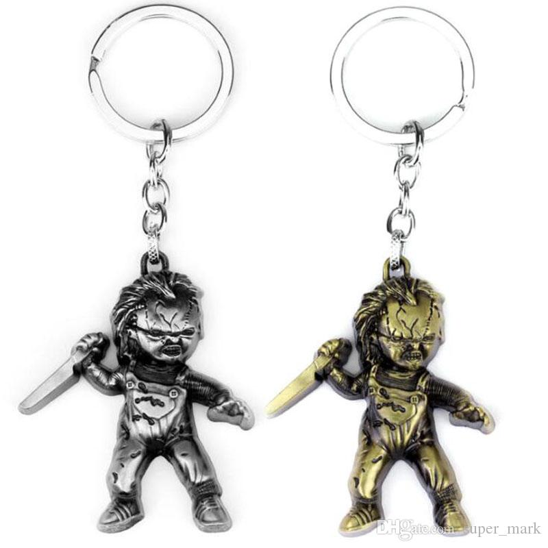 1 inch Chucky horror pendant key chain