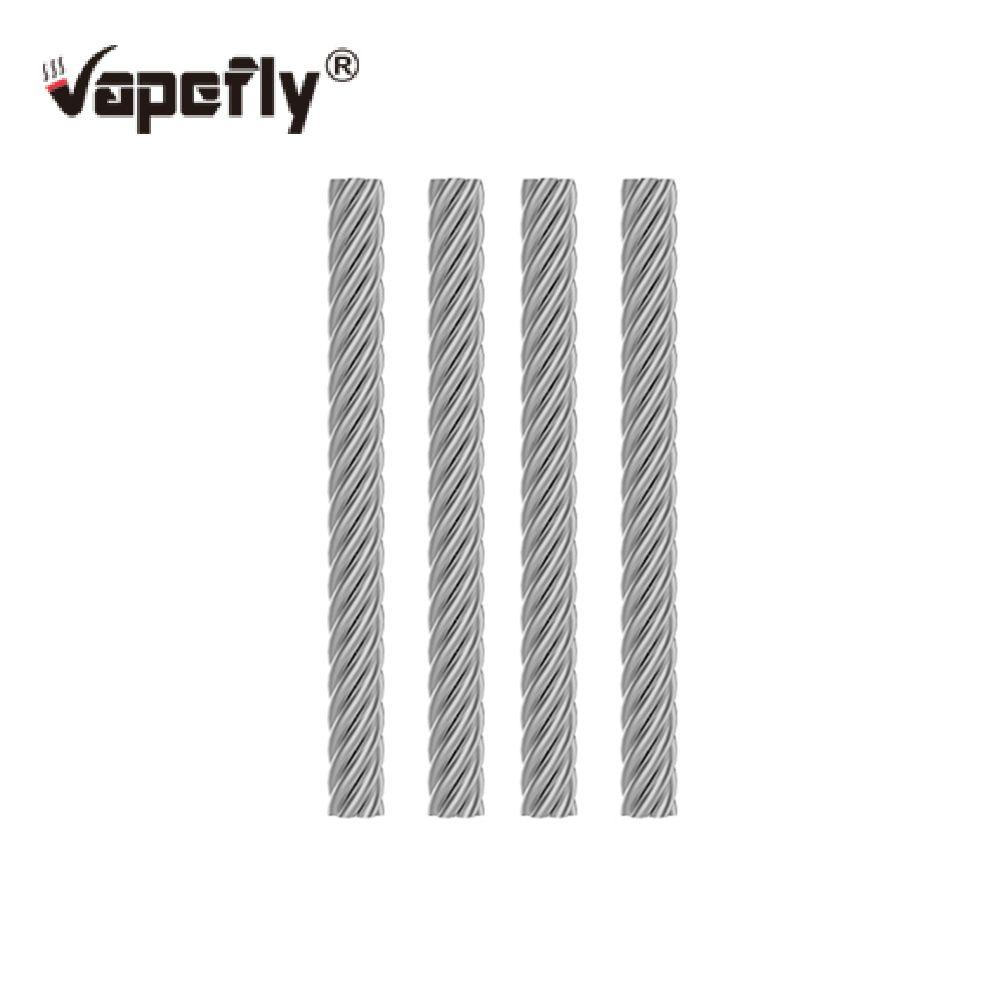 4 unids / pack Vapefly SS Cable para Vapefly Brunhilde RTA E cigarrillo Vape vapor RDA RDTA RTA Tanque Atomizador Alambre Recambio Original