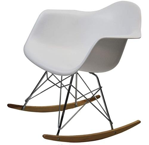 Remarkable 2019 Stock In Usa Mid Century Stylish Modern Molded Plastic Shell Rocking Rocker Arm Chair Heavy Duty White Room Furniture From Zrsupply 110 96 Caraccident5 Cool Chair Designs And Ideas Caraccident5Info