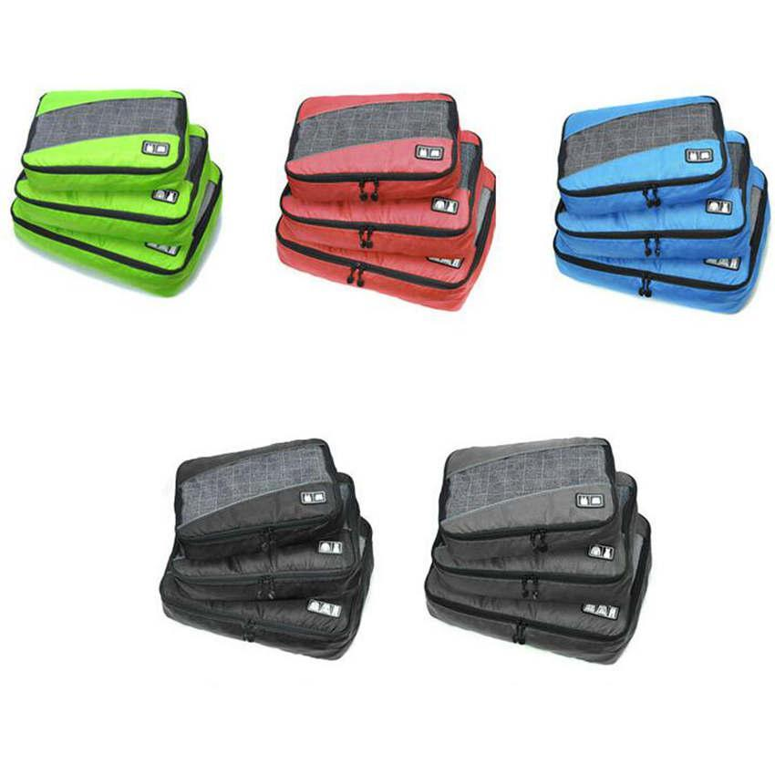 Packing Cubes for Travel 3pc Set Slim Packing Luggage Travel Organizers Bags Nylon Pouch Storage Bag ZZA1504