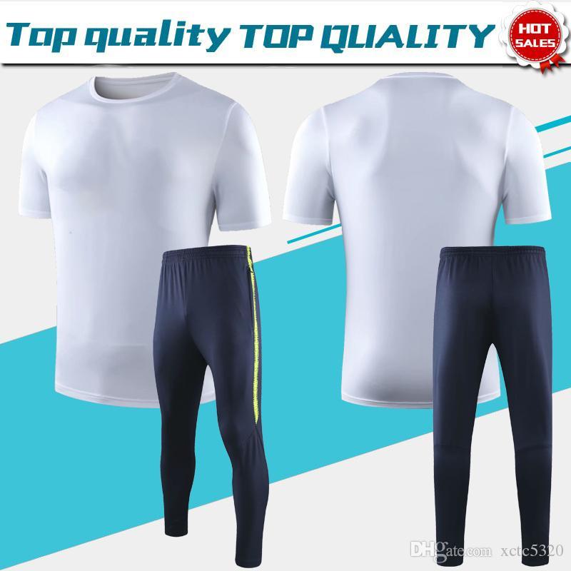 T-shirt Suit 2019 City Short Sleeves White soccer jerseys 19/20 Sportswear Men T-shirt Football Uniforms league club Soccer Shirts On Sale