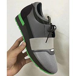 Moda colori misti Grigio Trainer maglia nera scarpe coppia Style Brand New Designer Albero modello di scarpe uomo donna casuale' Size 35-46 1008109
