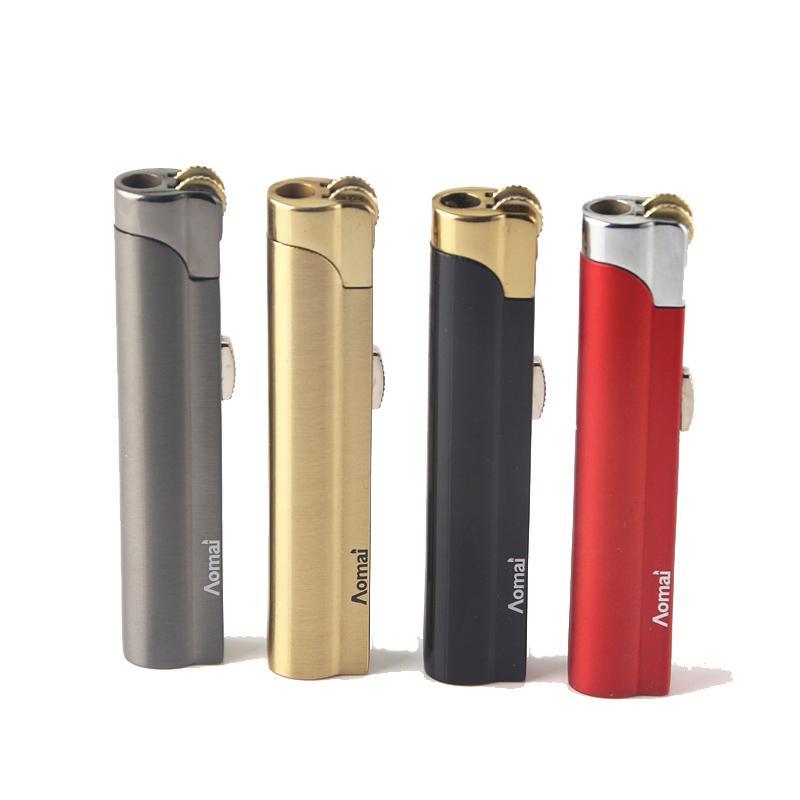 새로운 도착 정품 Aomai 소형 제트 라이터 토치 그라인딩 휠 화재 직선 라이터 담배 라이터 흡연 도구