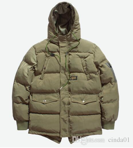Diseñador de la marca para hombre de invierno abrigo abajo Parkas hombre chaqueta gruesa con capucha de alta calidad de color sólido rompevientos prendas de vestir exteriores