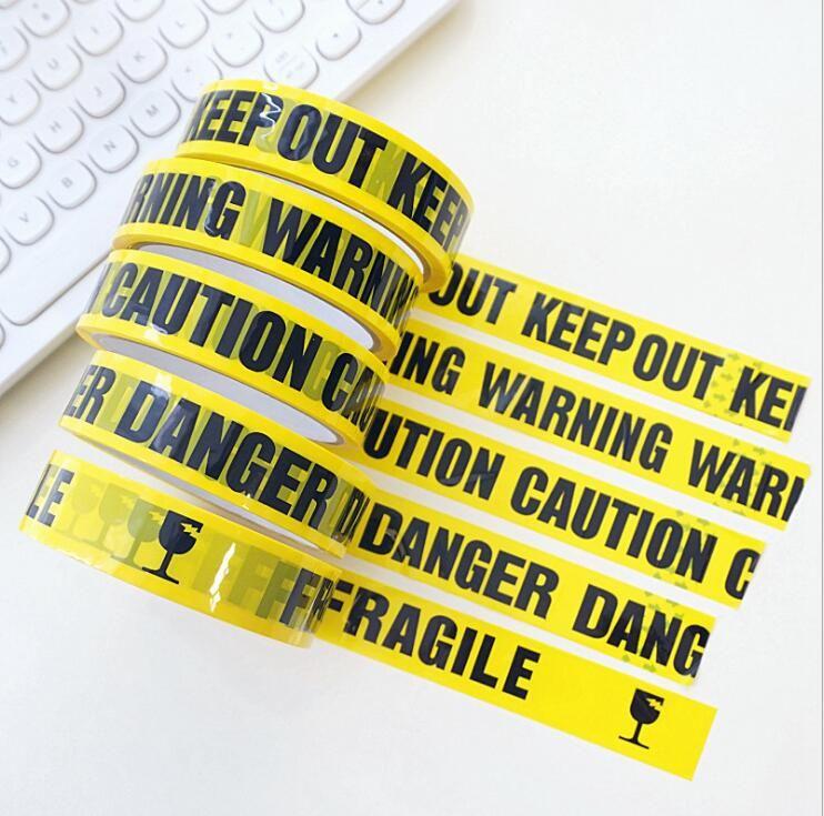 24mm * 25 m Uyarı Bant Tehlike DİKKAT Kırılgan Bariyer Hatırlat DIY Sticker İş Güvenliği Yapışkan Bantlar için Alışveriş Merkezi Mağaza Okulu