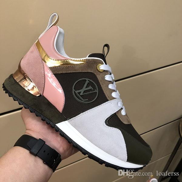 The woman basketball fashion platform Luxury casual shoes superstars splice Mesh real leather classic sports shoes With original box
