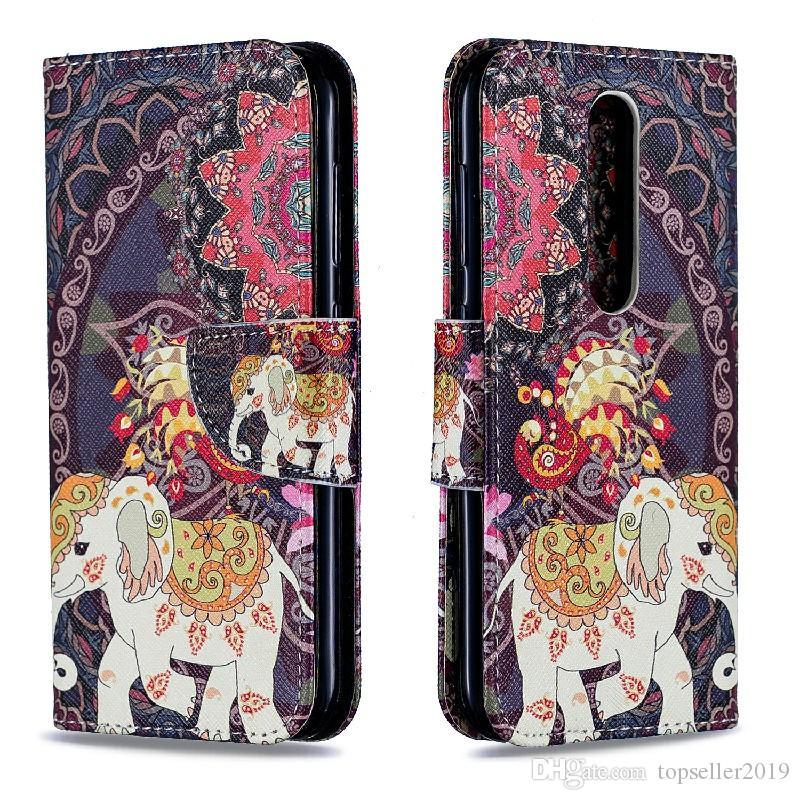 Pour NOKIA4.2 2019 stand design Porte-monnaie style de couleur sac en cuir de cas Couverture de téléphone avec le téléphone et le cas détenteur de la carte B059
