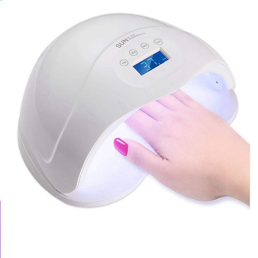 48W Secador de Uñas Dual UV LED Lámpara de Uñas Polaco Gel Curado Luz Con Temporizador Inferior Pantalla LCD Lámpara Nail Art Tools RRA880