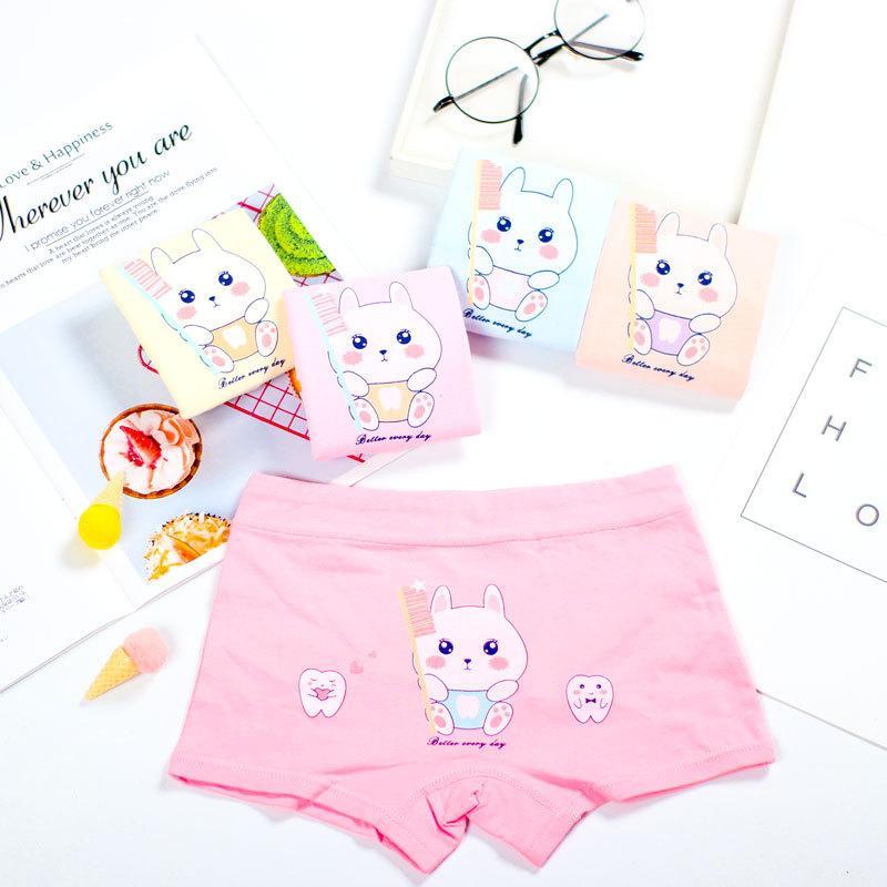 Nouveau design enfants culottes de fille de coton doux Jolie enfant Sous-vêtements pour les enfants Cartoon Boxer filles culottes respirables