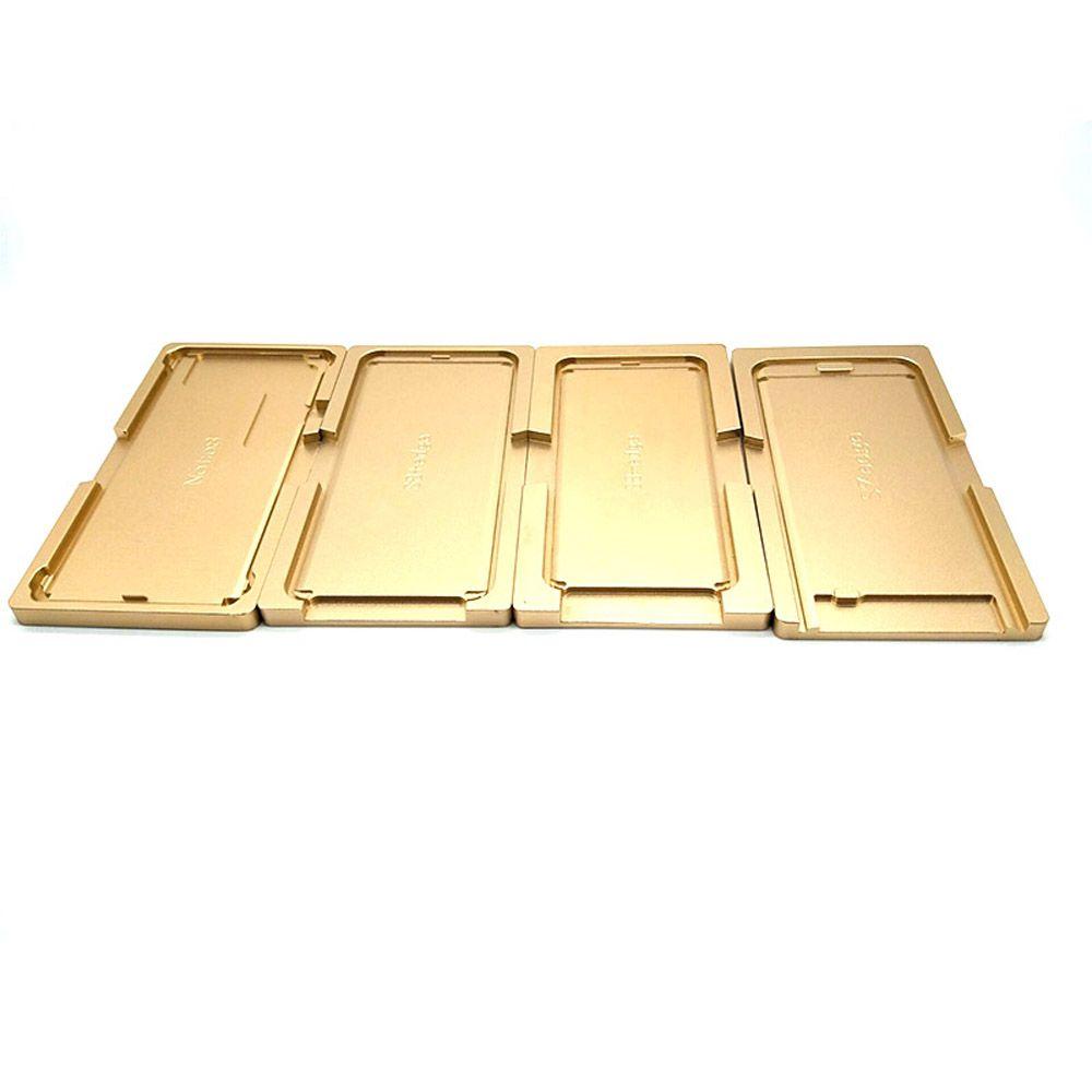 OCA Laminage Positionnement Aluminium Localisation Moisissures Couvercle métallique plaque Moule pour Samsung S6 S6 + S7 S8 S8 + S9 S9 + écran LCD en verre