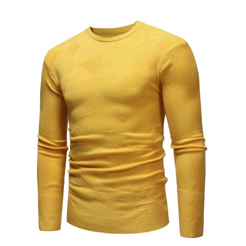 6 Renkler Sonbahar Kış Yeni Moda O yaka Casual dibe İnce Kazak Kazak Kazaklar Giyim İçin Adam Örme Triko Isınma