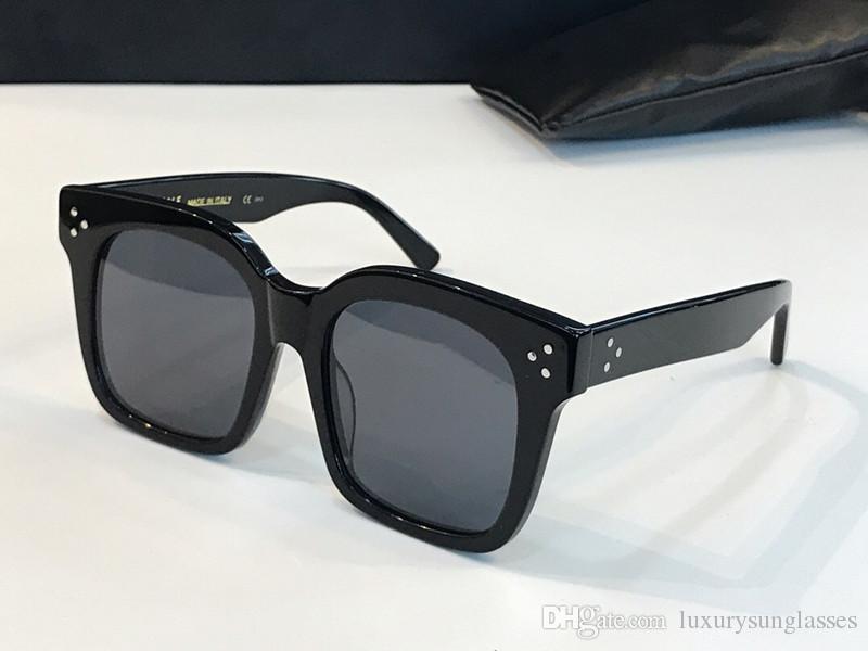 41076 النظارات الشمسية مصمم أزياء للمرأة إطار مربع نظارات الشمس الجديدة جو بسيط 41076S أسلوب البرية UV400 حماية عدسة النظارات