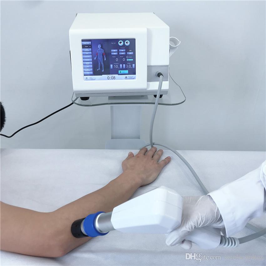 El alivio del dolor Terapia de choque extracorpórea portátil de onda neumática cuerpo vaivén / venta caliente máquina de ondas de choque para TOCH ed