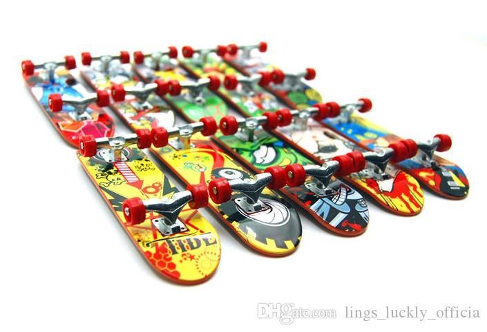Деревянные Накладка Professional Finger Скейтборд Wood Основные Fingerboars подшипники колеса ленты пены Набор Finger Skateboards