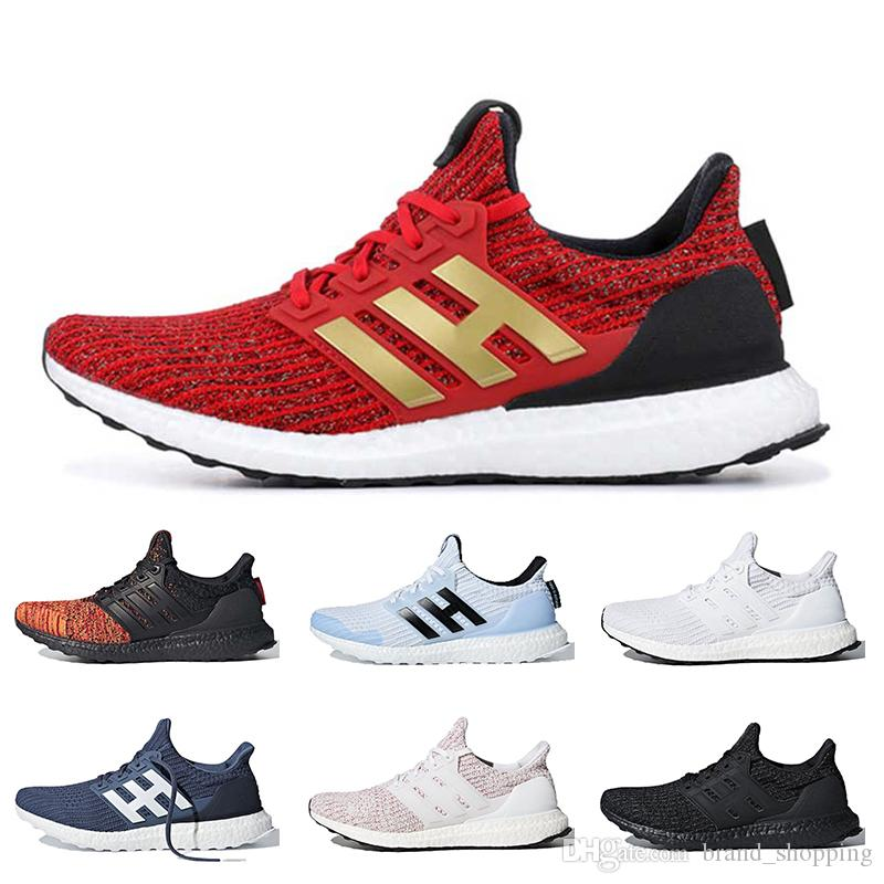 Free Shipping UltraBoost des chaussures running shoes Ultraboost 19 triple white black active red trainers sneakers 36-47
