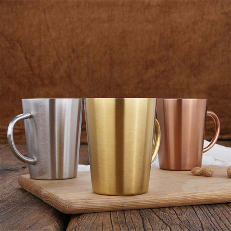 350 мл чайный кружка кофе кружка двойная стена кофейная чашка 304 нержавеющая сталь пивная кружка логотип настроен