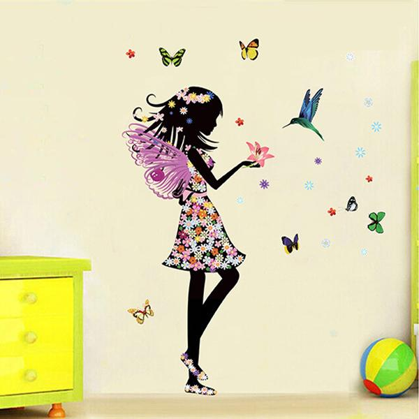 Free-shipping-Beautiful-Butterfly-Elf-Arts-Wall-Sticker-For-Kids-Rooms-Home-Decor-Backdrop-Wall-Decal (1)