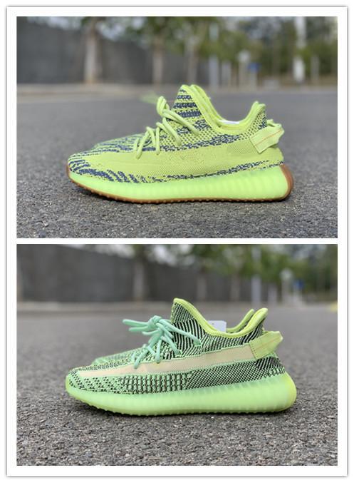 corrientes ocasionales al por mayor 2019 nuevos semi congelado amarillas hombres verdes zapatos de las mujeres bajas formadores al aire libre de alta calidad tamaño libre 5,5-13