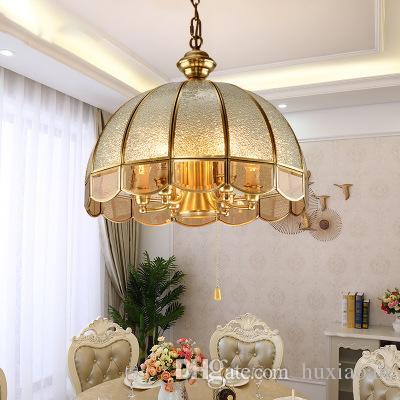Vendas diretas de fábrica de cristal candelabro lâmpada de cobre dropight American pastoral candelabrais pingentes e lanternas