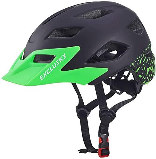 Hot Exclusky Fahrradhelme für Kinder Leichte justierbarer Fahrrad Fahrradhelm für Junge Mädchen 50-57cm (Ages 5-13) Radsport-Schutzausrüstung