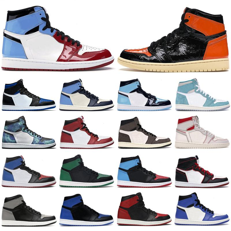 Mens 1s high og basketball shoes jumpman 1 Royal Toe Obsidian UNC Patent Pine Green Fearless Tie Dye men women trainers sports sneakers