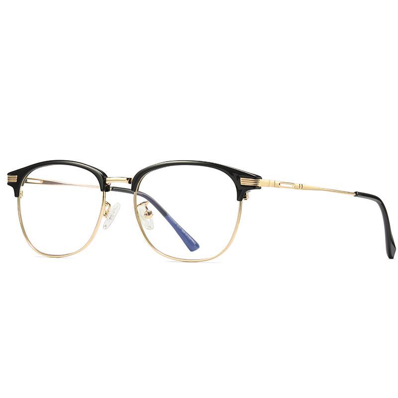 جديد الذهب إطار معدني نظارات الرجال والنساء نظارات الكمبيوتر نظارات الطالب نظارات الهاتف المحمول الكمبيوتر نظارات نظارات عدسة شفافة