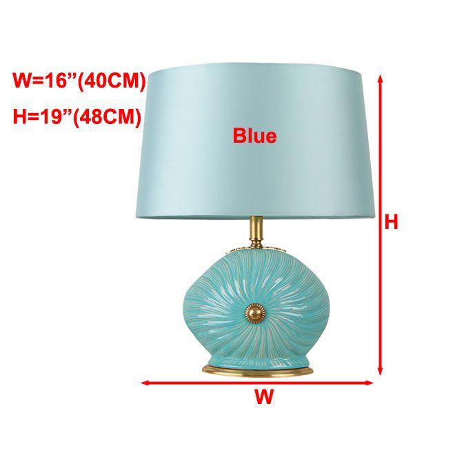 2019 New Arrival Modern Copper Table Lamps Luxury Blue Table Lights Ceramic  Creative Desk Lights Bedroom Living Room Bedside Led Table Lighting From ...